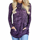 FixedPricewomens pullover casual winter clothes sweatshirt pockets loose tunic blouse tops