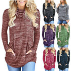 Womens Pullover Casual Winter Clothes Sweatshirt Pockets Loose Tunic Blouse Tops
