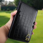 Golf Scorecard Yardage Book Gift Holder Cover Crocodile Grain Multi Colors