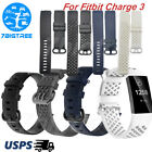 For Fitbit Charge 3 Watch Band Replacement Silicone Classic Sport Wrist Strap image