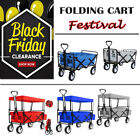 Foldable Hand Cart Wagon Trolley Pull-Along Festival Camping Barrow Cart Outdoor