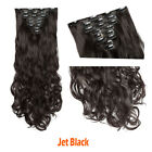 US 8 Pieces Clip In Hair Extensions Full Head Natural As Human Real Long Thick