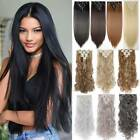 Kyпить US 8 Pieces Clip In Hair Extensions Full Head Natural As Human Real Long Thick на еВаy.соm