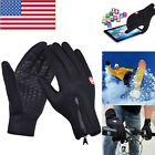 Mens Winter Sports Warm Gloves Windproof Waterproof Thermal Touch Screen Mittens