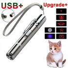 3 In1 Mini Red Laser Pointer Pen With White LED Light Child Pet Cat Toy Keychain