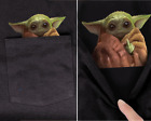 Baby Yoda Middle Finger Funny Meme Pocket T-Shirt Star Wars Shirts £19.95 GBP on eBay
