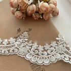 Beaded Lace Trim Ivory Lace Trim for Bridal Veil Scalloped Trim for Bridal Dress