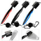 Golf Brush Club Groove Cleaner Retractable Zip-line Cleaning Kit Tool Washer