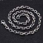 "Real 925 Sterling Silver Necklace Square Ring Buckle Box Chain 20"" - 30"""