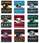 "NFL SOFT FLEECE THROW BLANKET SINGULAR DESIGN 50""X60"" STADIUM NEW PICK YOUR TEAM $17.99 USD on eBay"