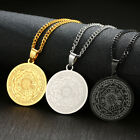 Us Stock Women Menseven Seals Of The Archangels Coin Pendant Necklace Jewelry