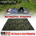 Camouflage Outdoor Portable Lightweight Rainproof Mat RainTent Tarp Shelter US