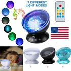 Kids Ocean Wave Projector LED Fantasy Night Light Music Speaker Remote Lamp Gift