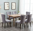 Set of 2 Dining Chairs Tufted ...