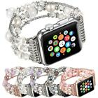 Bling Elastic Beads Bracelet Band For Apple Watch Series 5 4 3 2 1 38/42 44/40mm image
