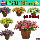 28heads Outdoor Flower Fake False Plants Grass Artificial Garden Daisy Decor At