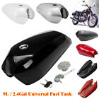 9L/2.4Gallon Universal Vintage Motorcycle Fuel Gas Tank & Cap Switch Multi-color $142.84 USD on eBay