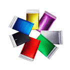 Padded Bubble Colour Envelopes Metallic Postal Shiny Gift Bags Foil Mailing Mail