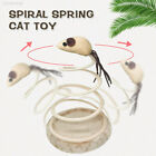 0C20 Small Fish Elastic Spring Mouse Spring Cat Toy Kitten Gift Durable