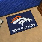Denver Broncos She Cave Woman Cave Rug NFL FANMATS Valentines Day $24.99 USD on eBay