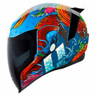 Icon Airflite Inky Helmet Motocross Offroad MX ATV Mens Adult All Sizes & Colors