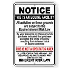 Equine Facility Inherent Risk Law Metal Sign Or Decal 7 Sizes horses stable $9.89 USD on eBay