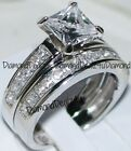 Kyпить Princess cut Diamond Engagement Ring Bridal Band Set 14k White Gold на еВаy.соm