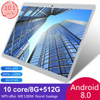 """10.1"""" Inch Tablet Android 8.0 Gaming Octa Core Wifi 8+512gb Dual Camera"""