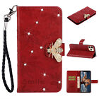 Bling Leather Bee Wallet Phone Case Cover Card Slots for iPhone 11 XS Max XR 8 7