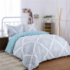 Striped Duvet Cover Sets Bedding For Boys Mens Kids Bed 7 colours available image