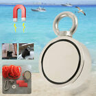 Magnet Double Sided Round Recovery Salvage Neodymium Fishing + Rope+ Hook