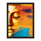 Buddha+Face+Gold+Collage+Framed+Wall+Art+Print+18X24+In