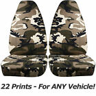Camouflage Car Seat Covers for ANY Car/Truck/Van/SUV/Jeep Front 22 Camo Prints
