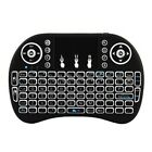Rechargeable 3 Colors Backlight Mini 2.4GHz Wireless Keyboard with Touchpad USA