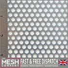 5mm Galvanised Steel (5mm Hole x 7mm Pitch x 1mm Thick) Perforated Mesh Sheet