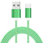 Braided USB C Type-C Fast Charging Data SYNC Charger Cable Cord 3FT 6FT 10FT USA