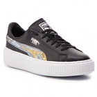 Puma Basket Platform Trailblazer SQN Jr Black Gold Lifestyle Sneakers