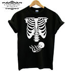 FUNNY HALLOWEEN COSTUME PREGNANCY SKELETON WITH BABY DESIGN T SHIRT TEE GIFT