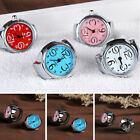 Cool Dial Quartz Analog Finger Watch Creative Steel Ring Elastic Watch image