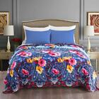 Flannel Fleece Blanket All Season Blanket for Bed/Couch/Car Blue Floral Printed image