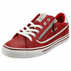 Mustang Lace Up Side Zip Womens Red Synthetic Fashion Trainers