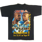 Vintage 90s WBA Holyfield VS Tyson II Black T-Shirt Mens Size S to 5XL Funny ... image