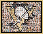 Pittsburgh Penguins Mosaic Print Art Created Using the Greatest Penguin Players $42.0 USD on eBay