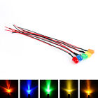 Pre Wired LEDs 3 5 8 10mm Diffused 12V Various Colour Prewired Light Emitting T2