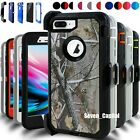 For iPhone 6 6s 7 8 Plus Shockproof Hard Cover Case Belt Clip + Screen Protector