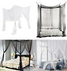 4 Corner Post Bed Canopy Mosquito Net Full Size European Style Netting Bedding image