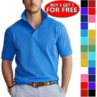 Kyпить Men's Dri-Fit Causal Cotton Polo Shirt Jersey Short Sleeve Sport Causal Golf T на еВаy.соm