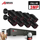 ANRAN 3MP HD Outdoor Security Camera System POE System 4/8CH NVR CCTV Waterproof