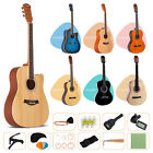 acoustic guitar with guitar case strap tuner pick steel strings steel stringed