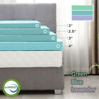 Kyпить 2''/2.5''/3''/4'' Comfort Gel Memory Foam Mattress Topper- Twin Full Queen King на еВаy.соm